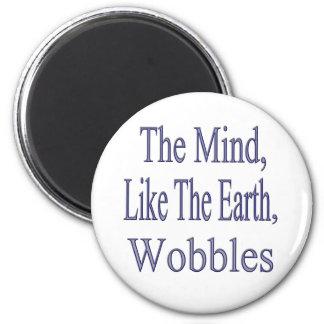 The Mind Wobbles2glitter 2 Inch Round Magnet