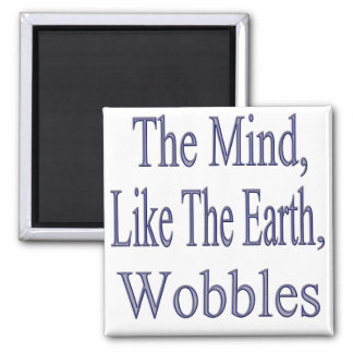 The Mind Wobbles2glitter 2 Inch Square Magnet