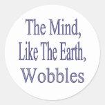 The Mind Wobbles2glitter Classic Round Sticker