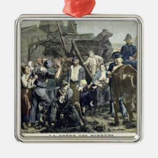 The Miner's Strike in Carmaux Metal Ornament
