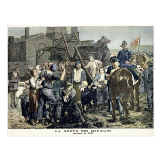 The Miner's Strike in Carmaux Postcard