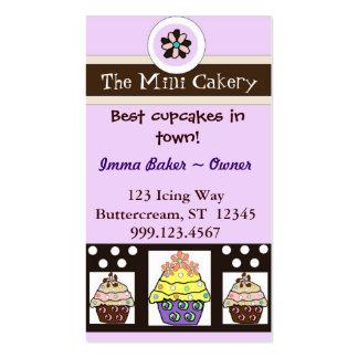 The mini cakery business card