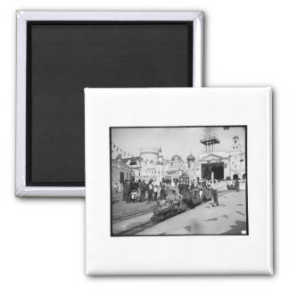The Miniature Railway, Coney Island, N.Y.  c1905 2 Inch Square Magnet