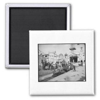 The Miniature Railway, Coney Island, N.Y.  c1905 Magnet