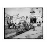 The Miniature Railway, Coney Island, N.Y.  c1905 Postcards