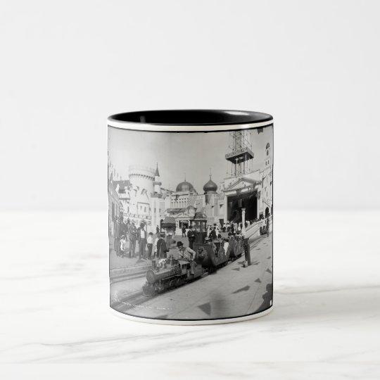 The Miniature Railway, Coney Island, N.Y.  c1905 Two-Tone Coffee Mug