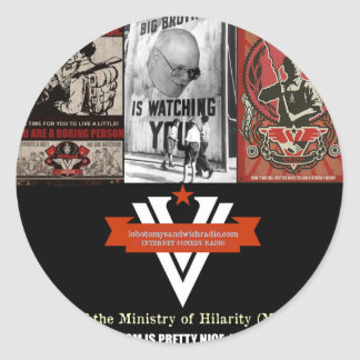 The Ministry of Hilarity Round Stickers