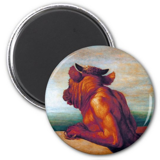 The Minotaur by George Frederic Watts Magnet