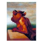 The Minotaur by George Frederic Watts Postcard