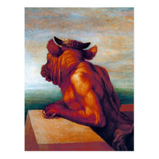 The Minotaur by George Frederic Watts Post Card