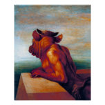 The Minotaur by George Frederick Watts Posters