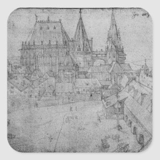 The Minster at Aachen, 1520 Square Sticker
