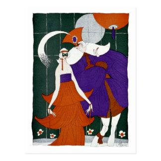 The Minstrel at The Masquerade Ball Postcard