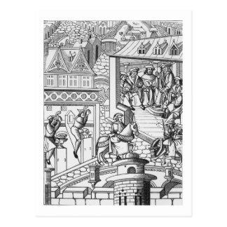 The Mint, after a woodcut in 'De l'Institution de Postcard