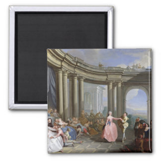 The Minuet 2 Inch Square Magnet