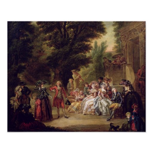 The Minuet under the Oak Tree, 1787 Poster