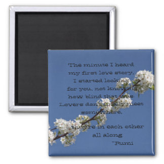 The Minute I heard my first love story 2 Inch Square Magnet