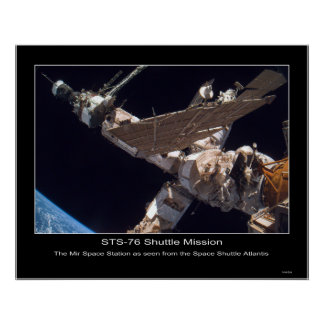 The Mir Space Station Poster