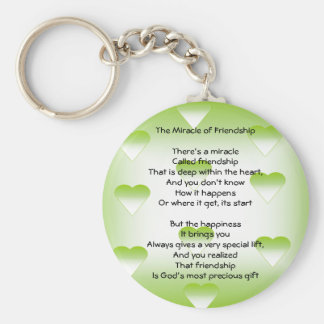 The Miracle of Friendship Basic Round Button Keychain