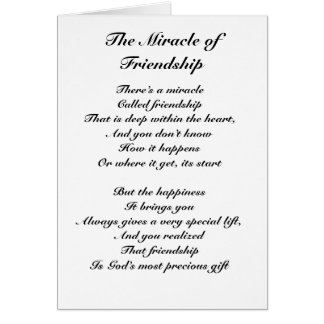 The Miracle of Friendship Card