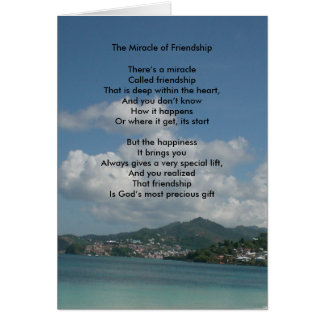 The Miracle of Friendship Greeting Card