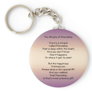 The Miracle of Friendship Keychain