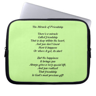 The Miracle of Friendship Lap Top Sleeve Laptop Sleeves