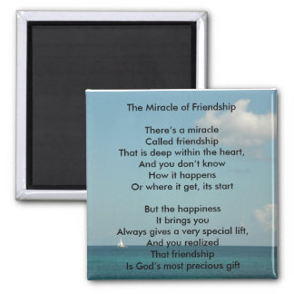 The Miracle of Friendship 2 Inch Square Magnet