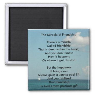 Motivational_Gifts The Miracle of Friendship Magnet