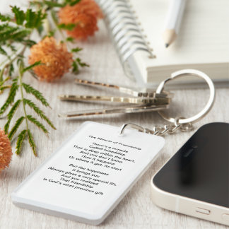 The Miracle of Friendship Poem Keychain