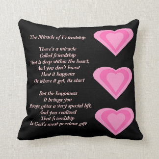 The Miracle of Friendship Poem pillow
