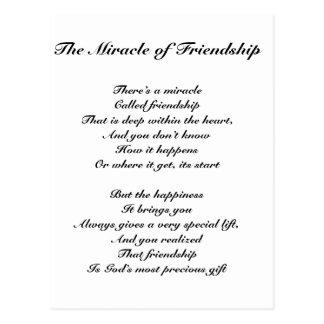 The Miracle of Friendship Postcard
