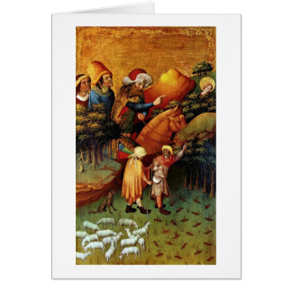 The Miracle Of Locusts By Master Francke Greeting Card