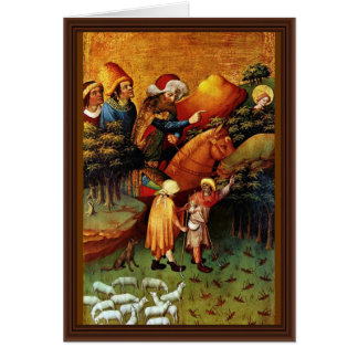 The Miracle Of Locusts By Meister Francke (Best Qu Greeting Card