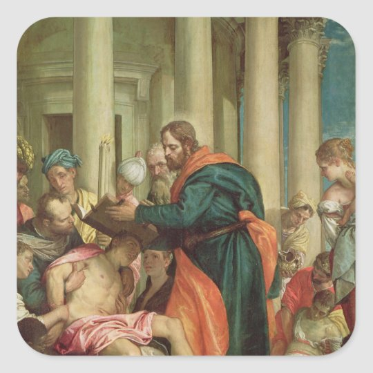 The Miracle of St. Barnabas, c.1566 Square Sticker