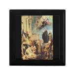 The Miracle of St. Francis Xavier by Paul Rubens Trinket Boxes