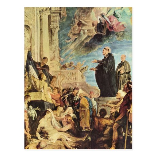 The Miracle of St. Francis Xavier by Paul Rubens Postcard