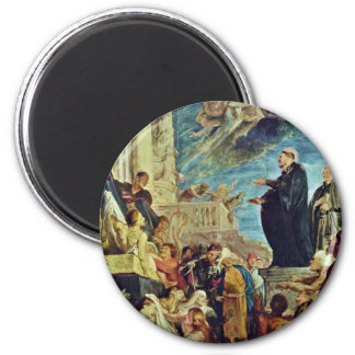 The Miracle Of St. Francis Xavier By Rubens Peter 2 Inch Round Magnet