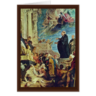 The Miracle Of St. Francis Xavier By Rubens Peter Card