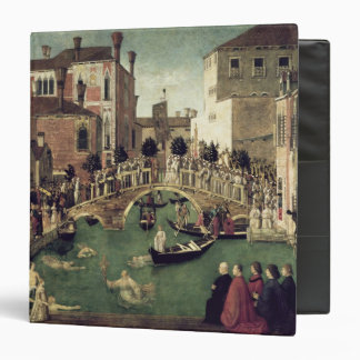The Miracle of the Cross on San Lorenzo Bridge 3 Ring Binder