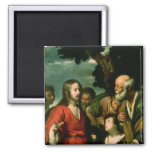 The Miracle of the Loaves and Fishes, c.1630 2 Inch Square Magnet