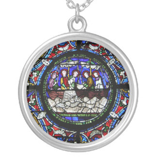 The Miracle of the Loaves and Fishes Silver Plated Necklace