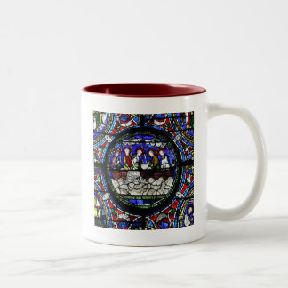 The Miracle of the Loaves and Fishes Two-Tone Coffee Mug