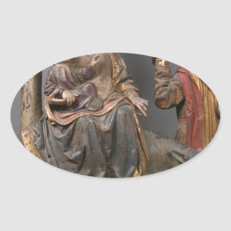 The Miracle of the Palm Tree on the Flight Egypt Oval Sticker