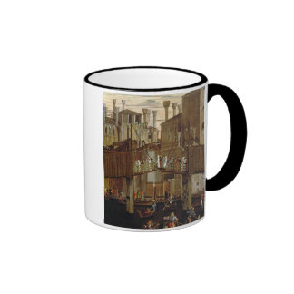 The Miracle of the Relic of the Holy Cross, detail Ringer Coffee Mug