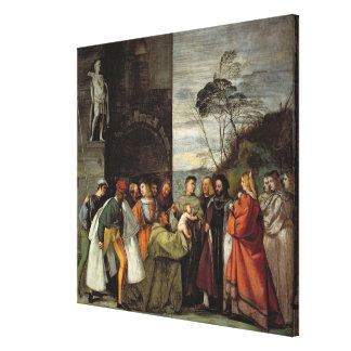 The Miracle of the Speech of the Newborn Child, 15 Canvas Print