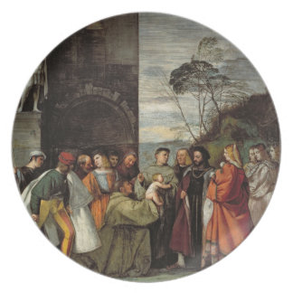 The Miracle of the Speech of the Newborn Child, 15 Melamine Plate