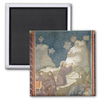 The Miracle of the Spring, 1297-99 2 Inch Square Magnet