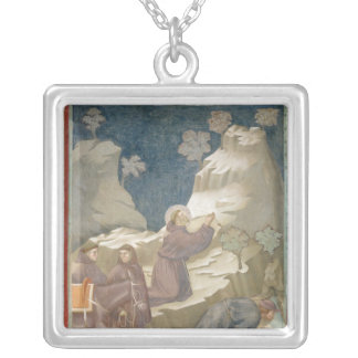 The Miracle of the Spring, 1297-99 Silver Plated Necklace