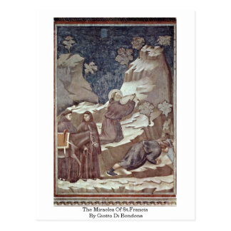 The Miracles Of St.Francis By Giotto Di Bondone Postcard